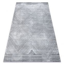 Carpet Structural SIERRA G5012 Flat woven grey - geometric, diamonds