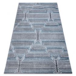Carpet Structural SIERRA G5018 Flat woven blue - stripes, diamonds