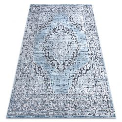 Carpet Structural SIERRA G8076 Flat woven blue / grey - rosette