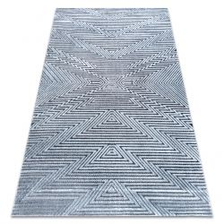 Carpet Structural SIERRA G5013 Flat woven blue - zigzag, ethnic
