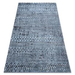 Carpet Structural SIERRA G6042 Flat woven blue - geometric, ethnic