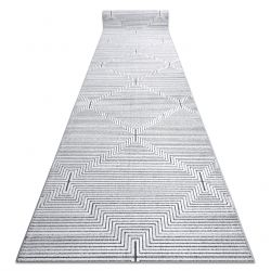 Runner Structural SIERRA G5018 Flat woven grey - strips, diamonds