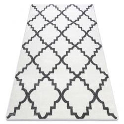 Carpet SKETCH - F343 white/grey trellis