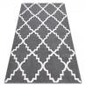 Carpet SKETCH - F343 grey /white trellis