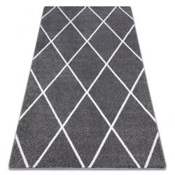 Carpet SKETCH - F728 grey /white trellis - Diamonds