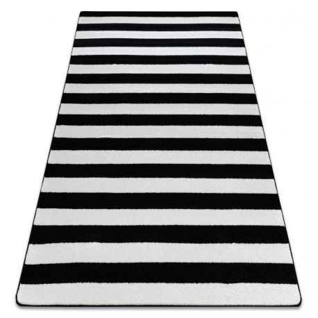 Carpet SKETCH - F758 white/black - Strips