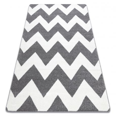 Carpet SKETCH - FA66 grey/white - Zigzag