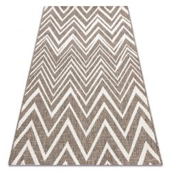 CARPET SIZAL FLOORLUX 20308 Zigzag taupe / champagne
