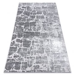 Modern carpet MEFE 6184 Paving brick - structural two levels of fleece dark grey