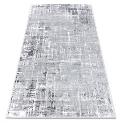 Modern carpet MEFE 8722 Lines vintage - structural two levels of fleece grey / white