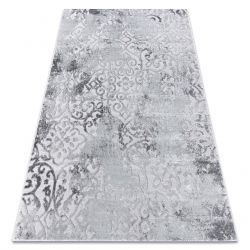 Modern carpet MEFE 8724 Ornament vintage - structural two levels of fleece grey