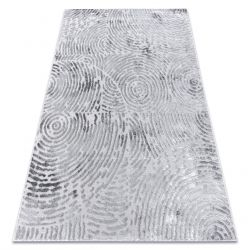 Modern carpet MEFE 8725 Circles Fingerprint - structural two levels of fleece grey