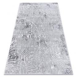 Modern MEFE carpet 8725 Circles Fingerprint - structural two levels of fleece grey