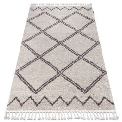 Carpet BERBER ASILA B5970 cream / brown Fringe Berber Moroccan shaggy