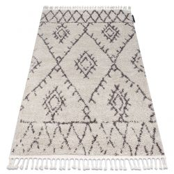 Carpet BERBER FEZ G0535 cream / brown Fringe Berber Moroccan shaggy