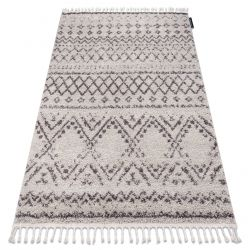 Carpet BERBER RABAT G0526 cream / brown Fringe Berber Moroccan shaggy