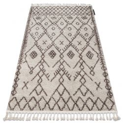 Carpet BERBER TANGER B5940 cream / brown Fringe Berber Moroccan shaggy