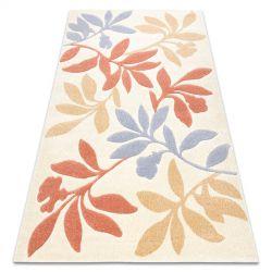 Carpet FEEL 1595/17933 Leaves beige/terracotta/violet