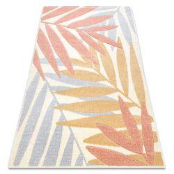 Carpet FEEL 1827/17933 Leaves beige/terracotta/violet