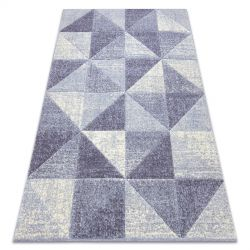 Carpet FEEL 5672/17944 Triangles beige/violet