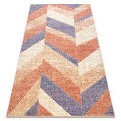 Carpet FEEL 5673/17931 Herringbone beige/terracotta/violet