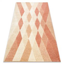 Carpet FEEL 5674/17911 Diamonds beige/terracotta
