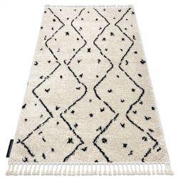 Carpet BERBER TETUAN B751 zigzag cream Fringe Berber Moroccan shaggy