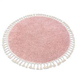 Carpet BERBER 9000 circle pink Fringe Berber Moroccan shaggy