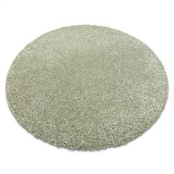Modern washing carpet ILDO 71181044 circle olive green