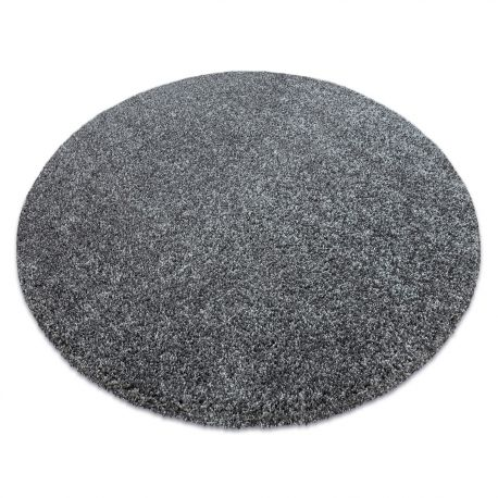 Modern washing carpet ILDO 71181070 circle anthracite grey