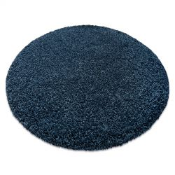 Modern washing carpet ILDO 71181090 circle dark blue