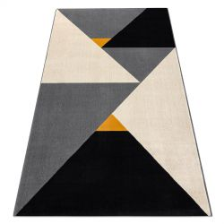 Carpet SCANDI 18464672 - Triangles geometric grey cream black