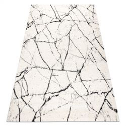Carpet GNAB 60639563 Marble modern white / black