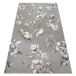 Carpet GNAB 60642653 Flowers roses grey / white