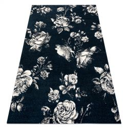 Carpet GNAB 60642734 Flowers roses dark blue / white