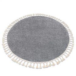 Carpet BERBER 9000 circle grey Fringe Berber Moroccan shaggy