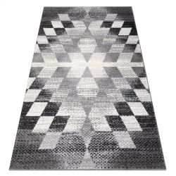 Carpet KAKE 25812677 Geometric - Diamonds, Triangles 3D grey / black
