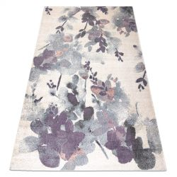 Carpet KAKE 25815067 Flowers Leaves ivory / violet / grey