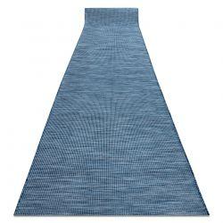 Flat woven Runner SIZAL PATIO uniform design 2778 blue