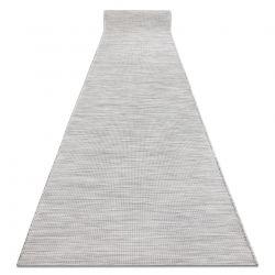 Flat woven Runner SIZAL PATIO uniform design 2778 grey