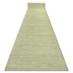 Flat woven Runner SIZAL PATIO uniform design 2778 green