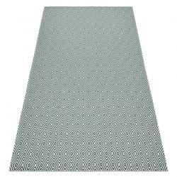 Carpet CASA, ECO SISAL Boho Diamonds 21844 cream / green, recycled carpet