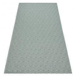 Carpet ECO SISAL Boho CASA Diamonds 21844 cream / green, recycled carpet