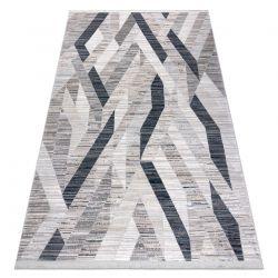 Modern carpet REBEC fringe 51166B Geometric - two levels of fleece navy / cream