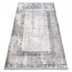 Modern carpet REBEC fringe 51190A Frame vintage - two levels of fleece cream / grey