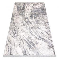 Modern carpet REBEC fringe 51193A Waves, Marble vintage - two levels of fleece cream / grey
