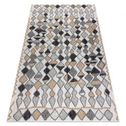 Carpet SISAL COOPER Diamonds, Zigzag 22217 ecru / black