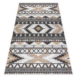Carpet SISAL COOPER Aztec, Etno 22235 ecru / black