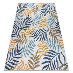 Carpet SISAL COOPER Leaves 22251 ecru / navy