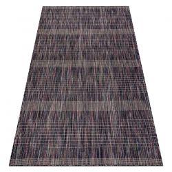 Modern carpet SISAL FISY Stripes 20777A brown / purple